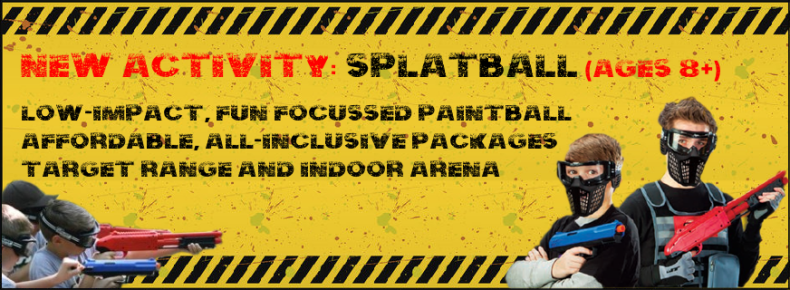 New SplatBall Low-Impact Paintballing